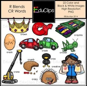 Language Clipart Inspirational R Blends CR Words Clip Art.