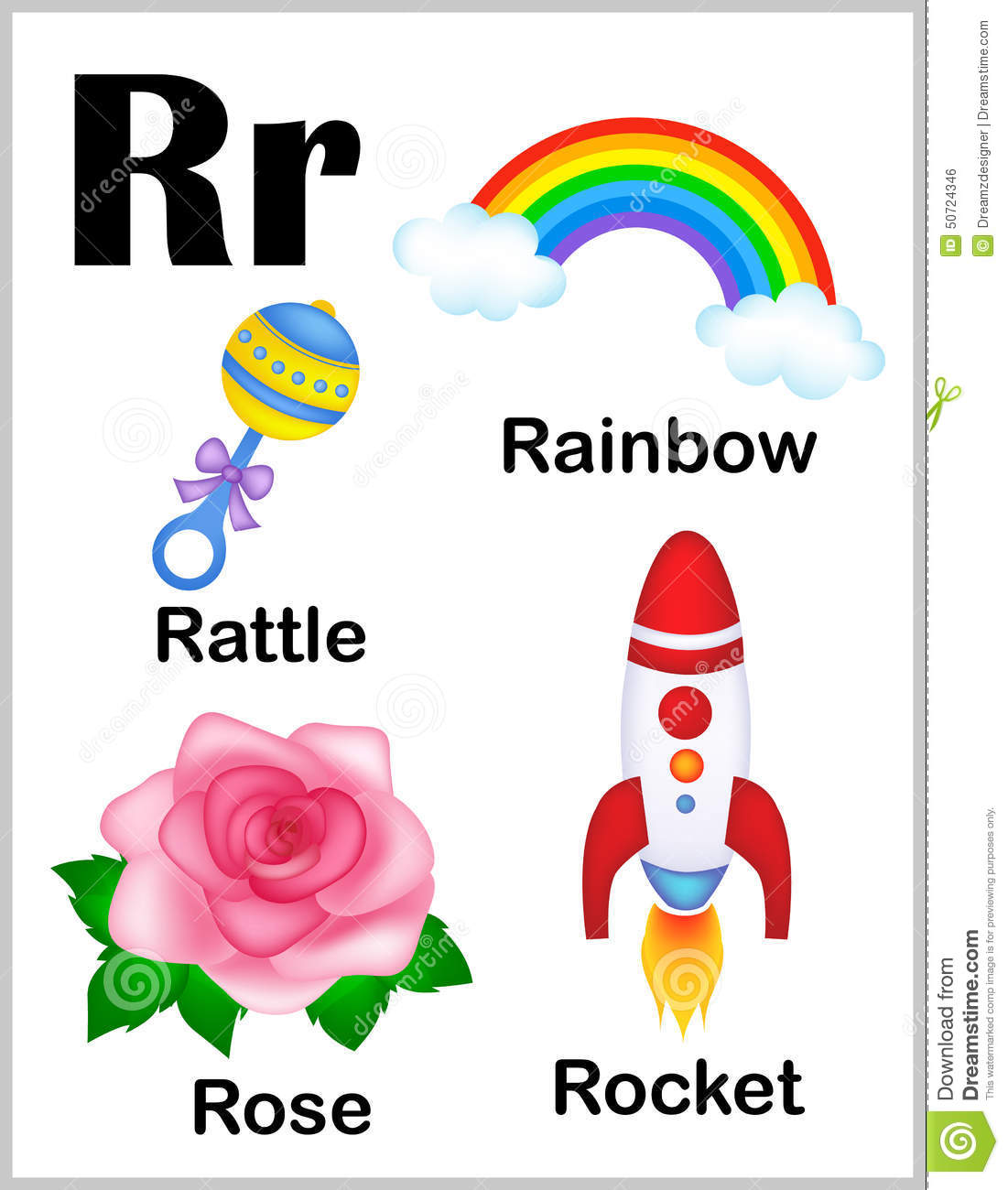 R Words Clipart.