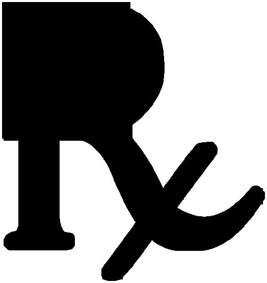 Rx Symbol Black Legged Plain Clipart Image Ipharmd Net.