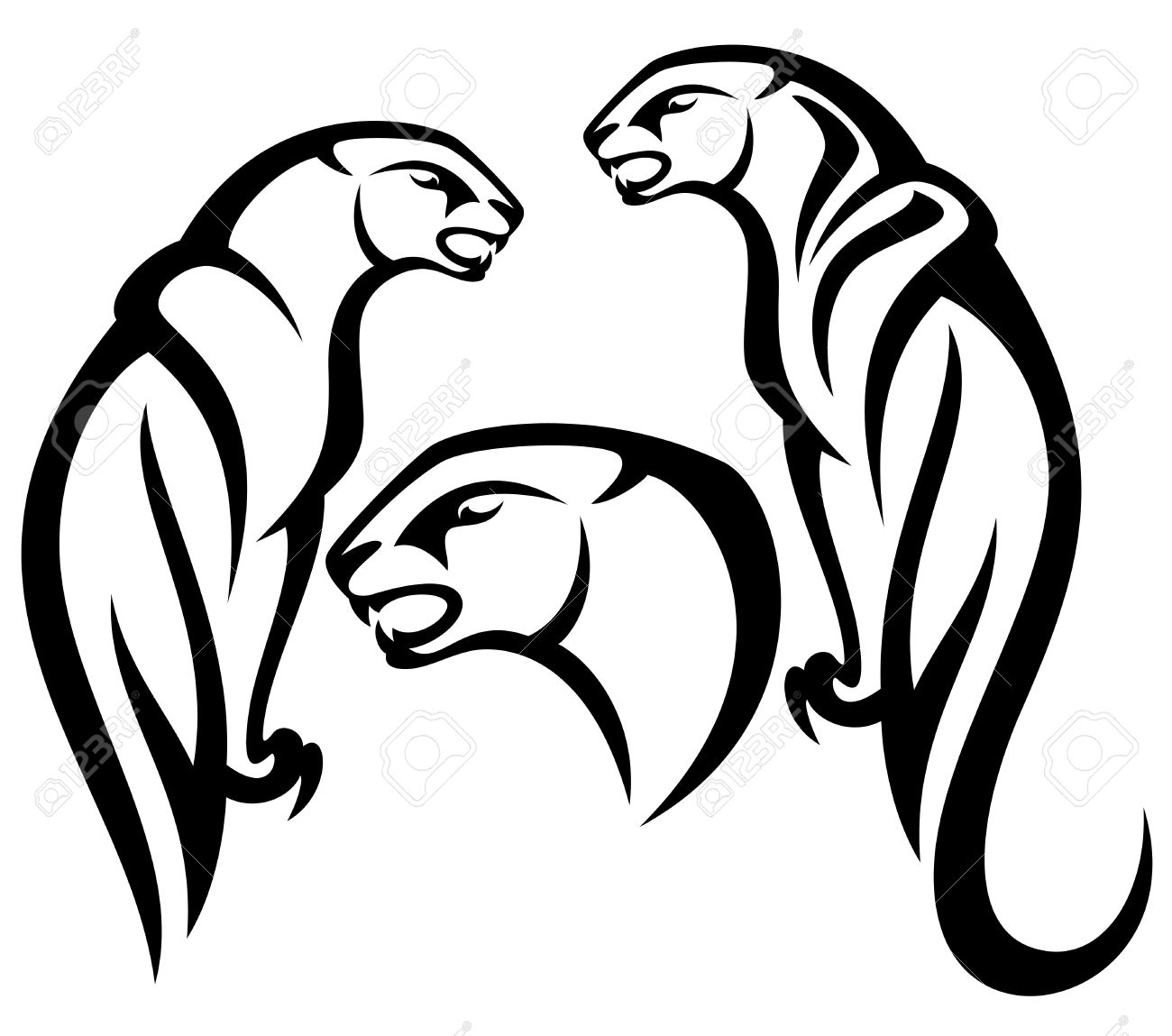 5,773 Panther Stock Vector Illustration And Royalty Free Panther.