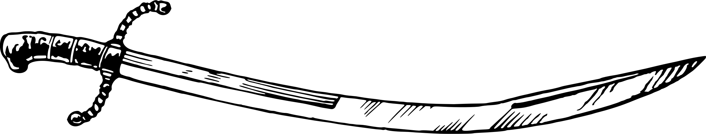 Sabre Sword vector clipart image.