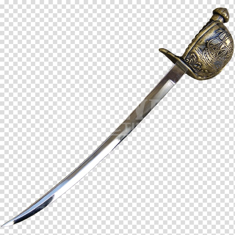 Sabre Cutlass Piracy Sword Weapon, Sword transparent.