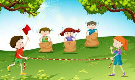 119 Sack Race Stock Vector Illustration And Royalty Free Sack Race.