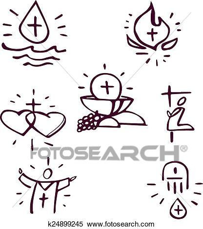 Sacraments Clipart.