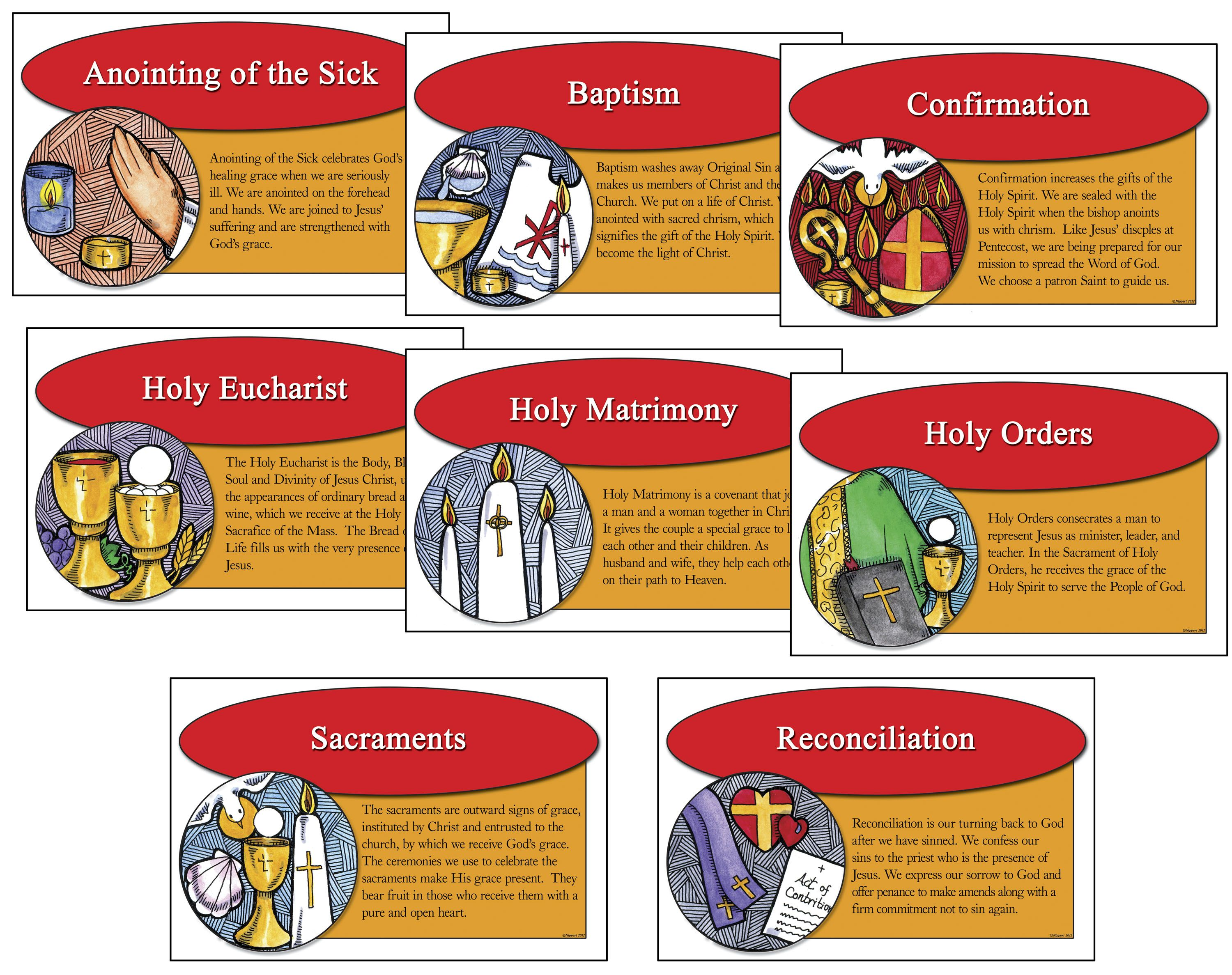 clip art free images of the seven sacraments with explaination.