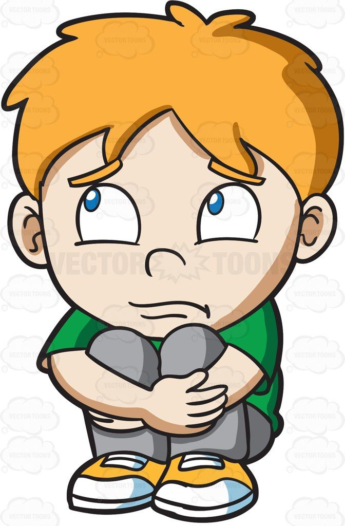 A sad boy #cartoon #clipart #vector #vectortoons #stockimage.