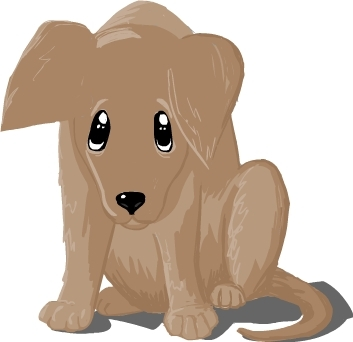 Sad Dog Clipart.