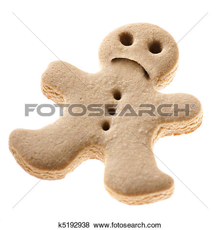 Pictures of Sad Gingerbread man cookie k5192938.