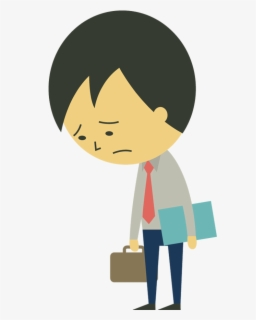 Free Sad Person Clip Art with No Background.