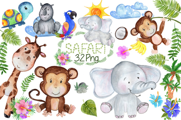 Safari Animals Clipart.