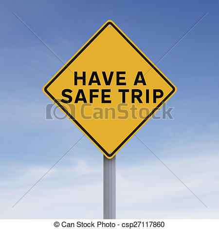 Stock Image of Safe Trip.