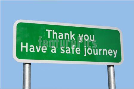 Have a Safe Journey Clip Art.