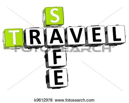Stock Illustration of 3D Safe Travel Crossword k9612978.