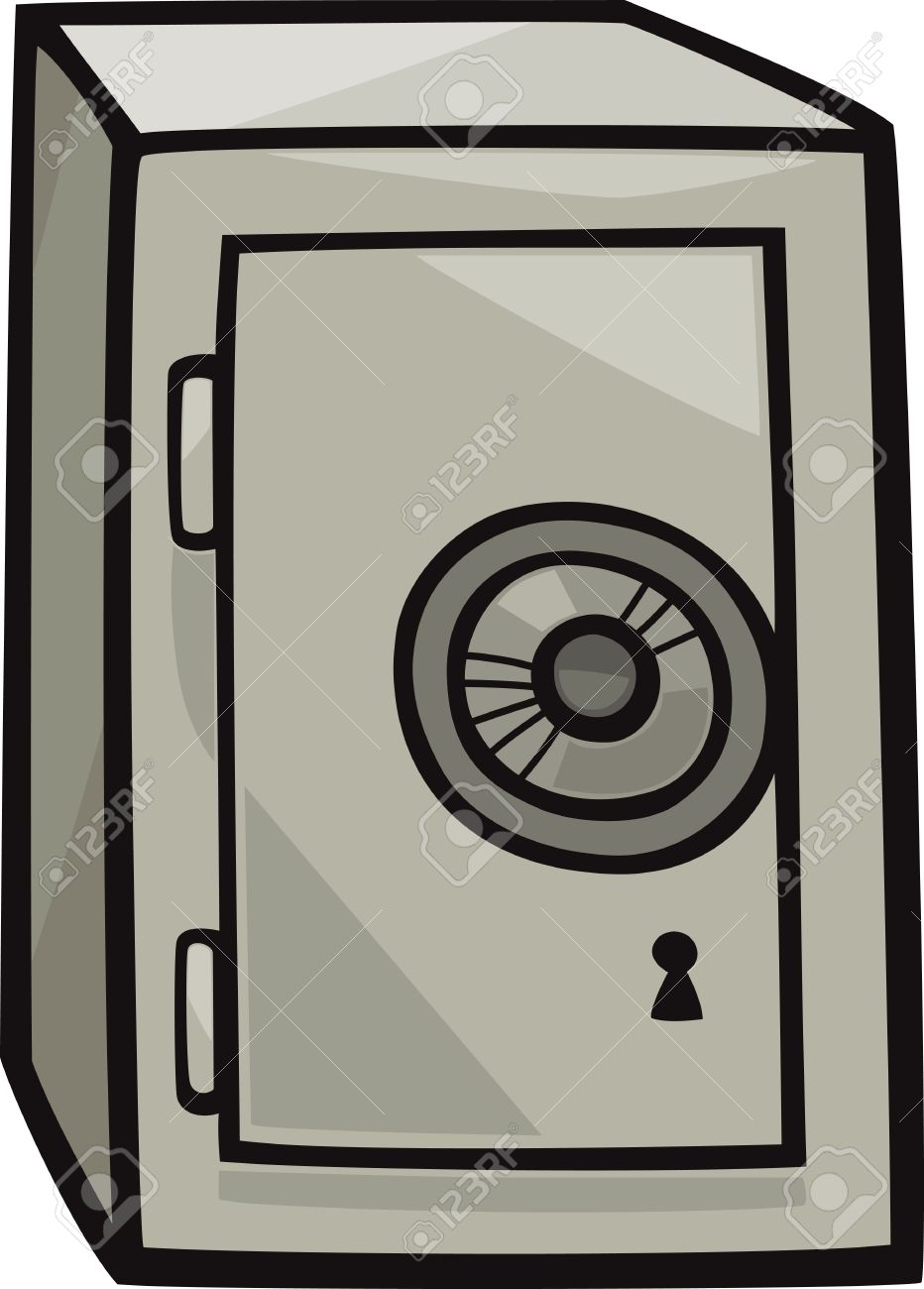 Cartoon Illustration Of Metal Safe Clip Art Royalty Free Cliparts.