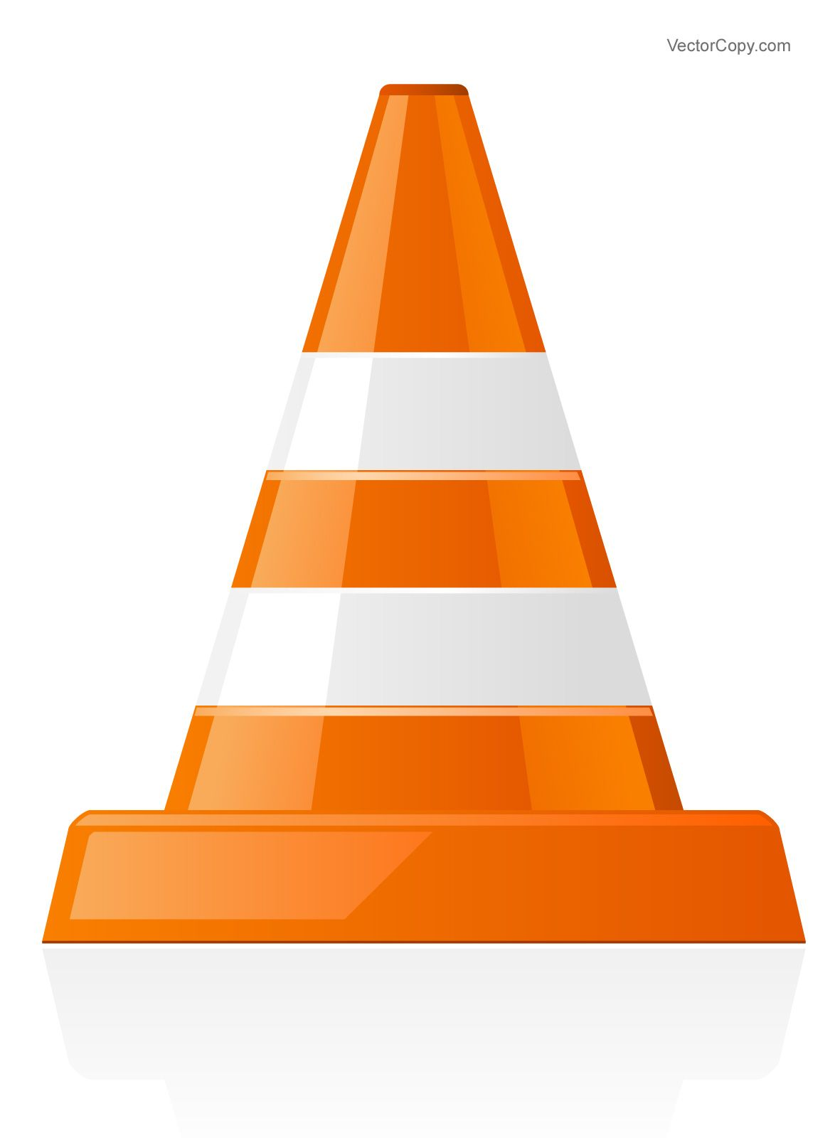 Traffic cone icon, free vector in 2019.