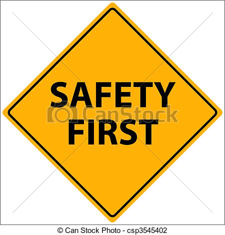 Safety first Vector clipart.