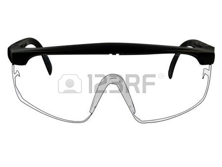 Safety Goggles Glasses Illustration Isolated On White Stock Ph.