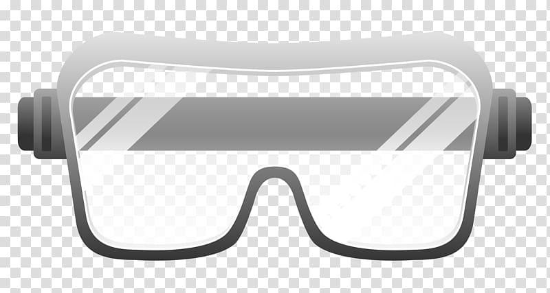 Gray eyeglasses illustration, Goggles Safety Glasses , GOGGLES.