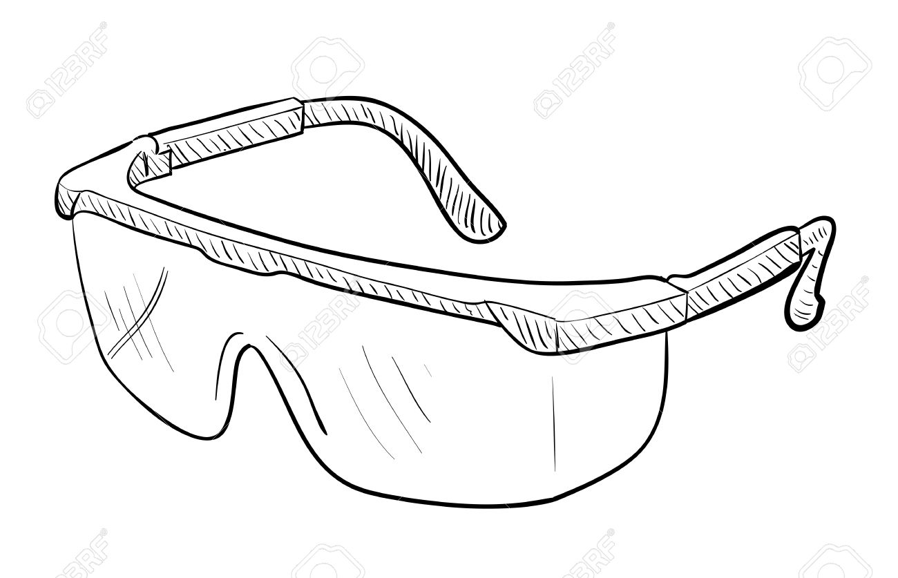 Safety Goggles Drawing.