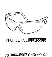 Safety Glasses Clip Art.