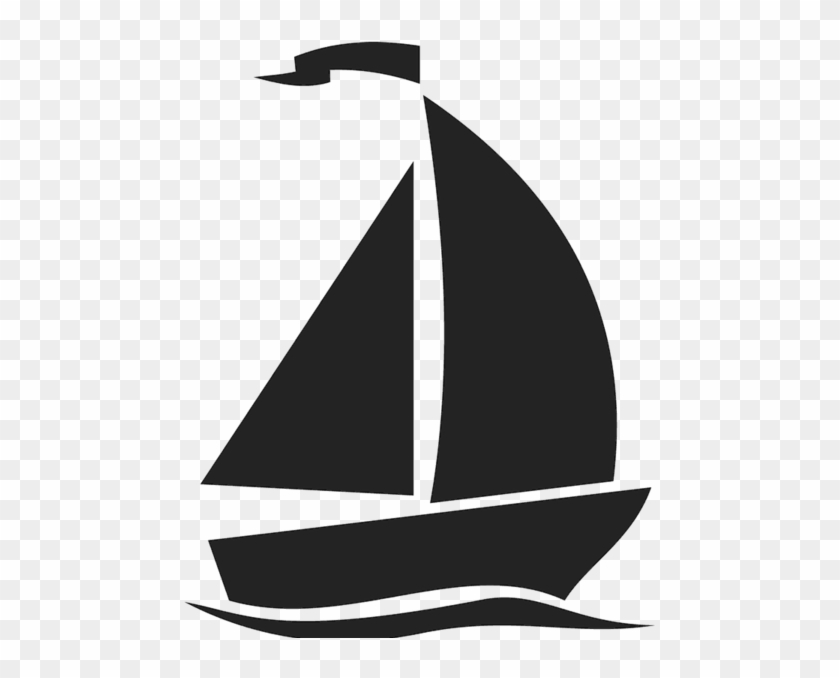 Silhouette Clipart Sailboat.