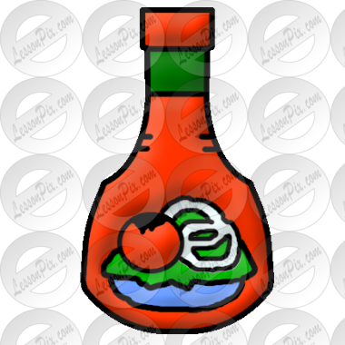 Salad Dressing Picture for Classroom / Therapy Use.