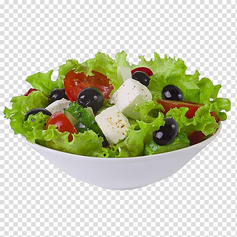 Bowl of fruit salad, Greek salad Fruit salad Israeli salad.