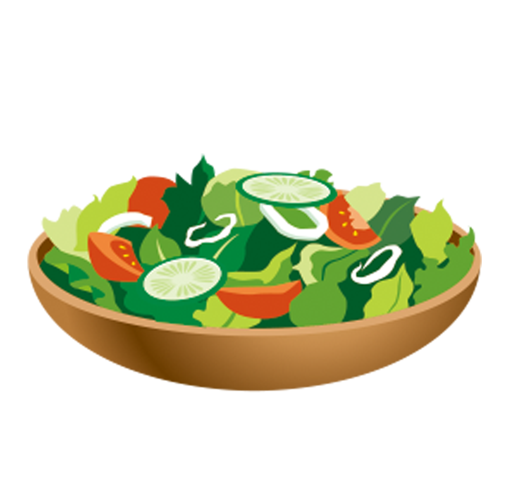 Dishes clipart vegetable salad, Dishes vegetable salad.