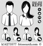 Sales rep Clipart and Illustration. 10 sales rep clip art vector.