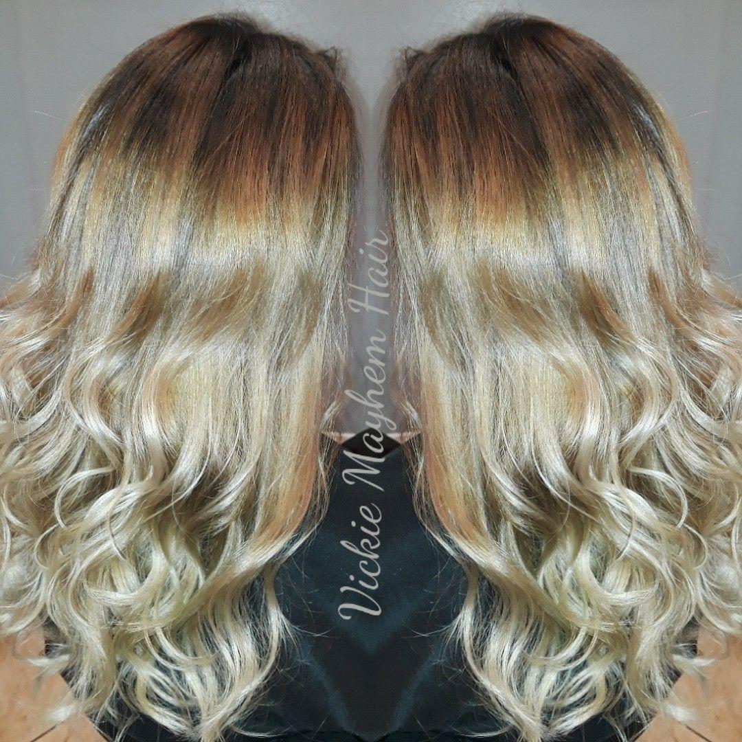 Vickie mayhem hair @ clip art salon San Diego • balayage.