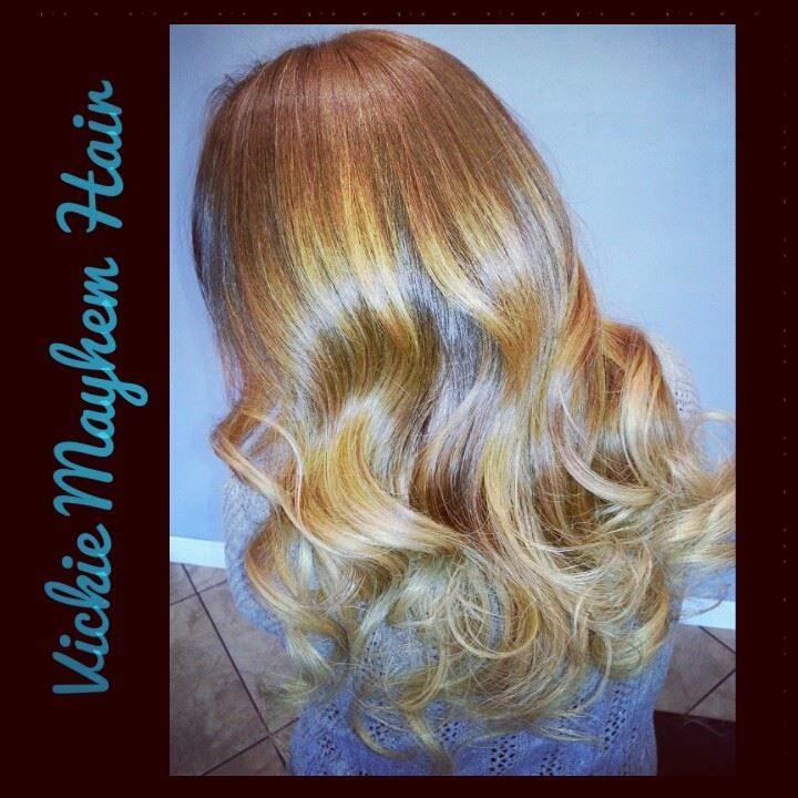 Ombre balayage summer Hair by: Vickie Mayhem Hair @ Clip Art.