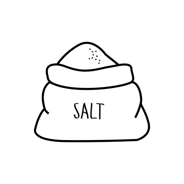 Pinch Of Salt Illustrations, Royalty.