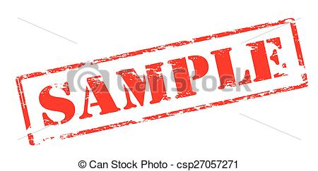 Sample Stamp Clipart.