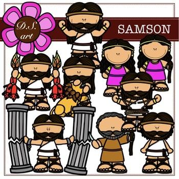 Samson Digital Clipart (color and black&white).