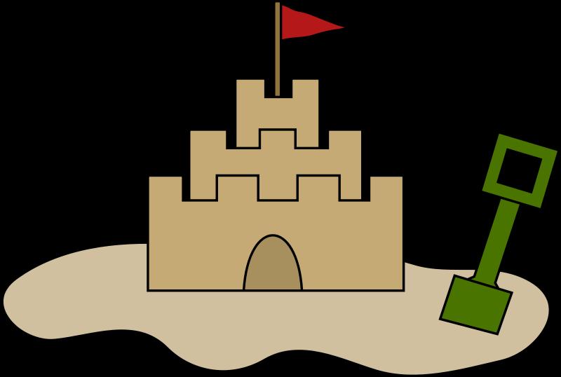 Free Clipart: Sand castle.