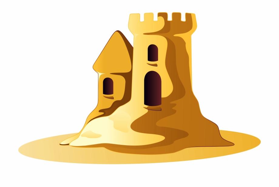 Small Sand Castle Clipart.