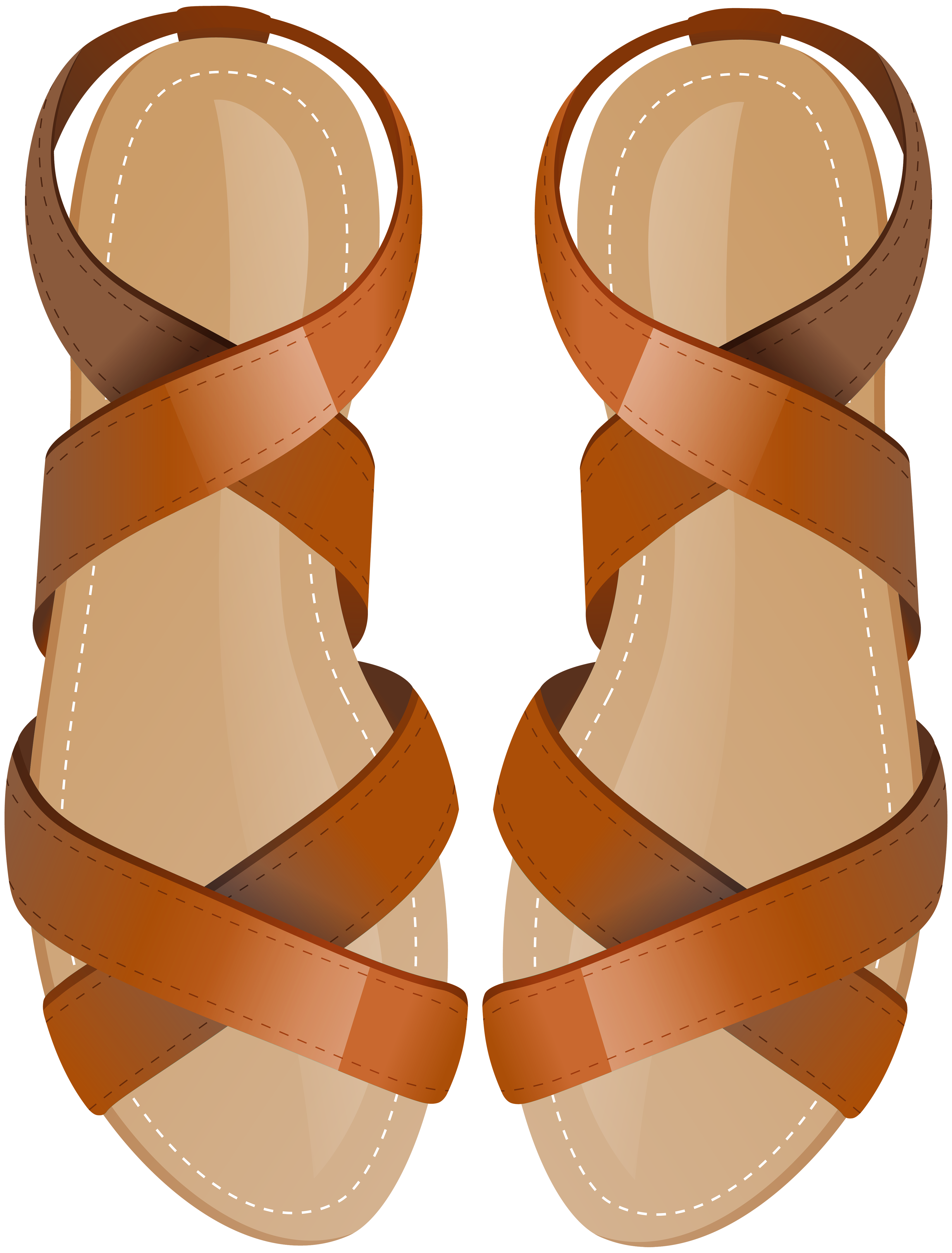Brown Sandals PNG Clip Art.