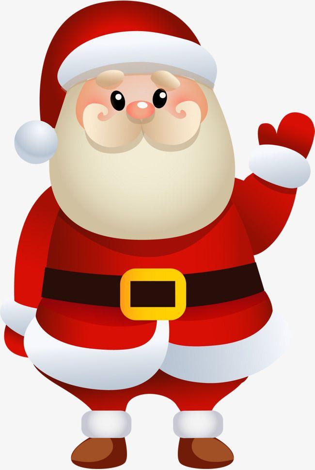 Cartoon Santa Claus.