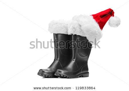 Santa Boots Stock Photos, Royalty.