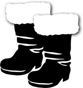 Santa Black Boots Clipart (65+).