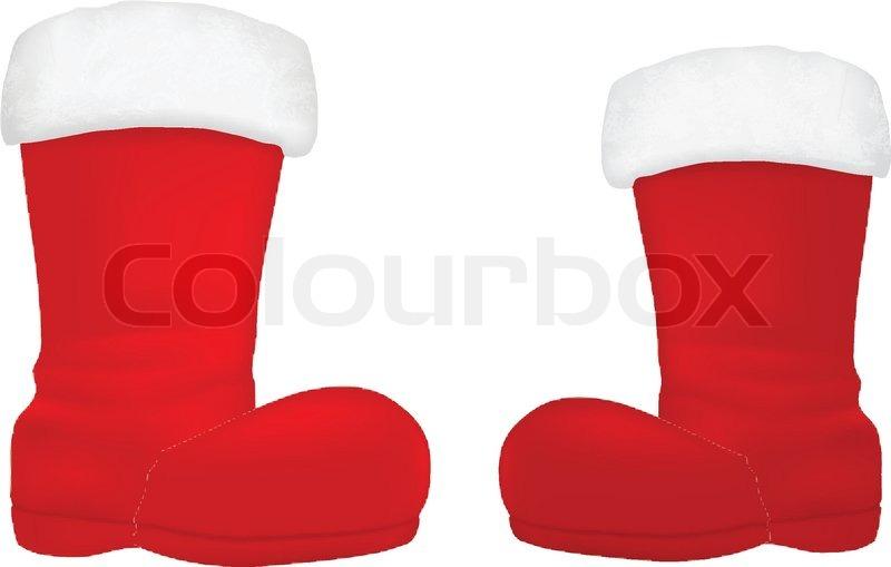 santa boot clipart.