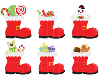 Santa boot toppers.