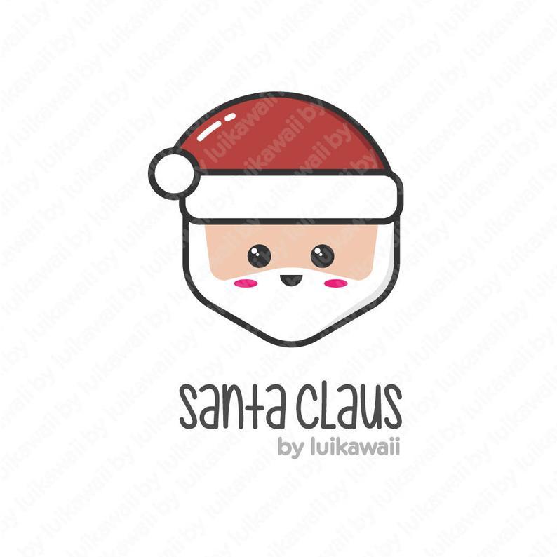 Kawaii Santa Claus Clipart / Santa Claus Clipart / Santa Claus Cartoon /  Santa Claus SVG.