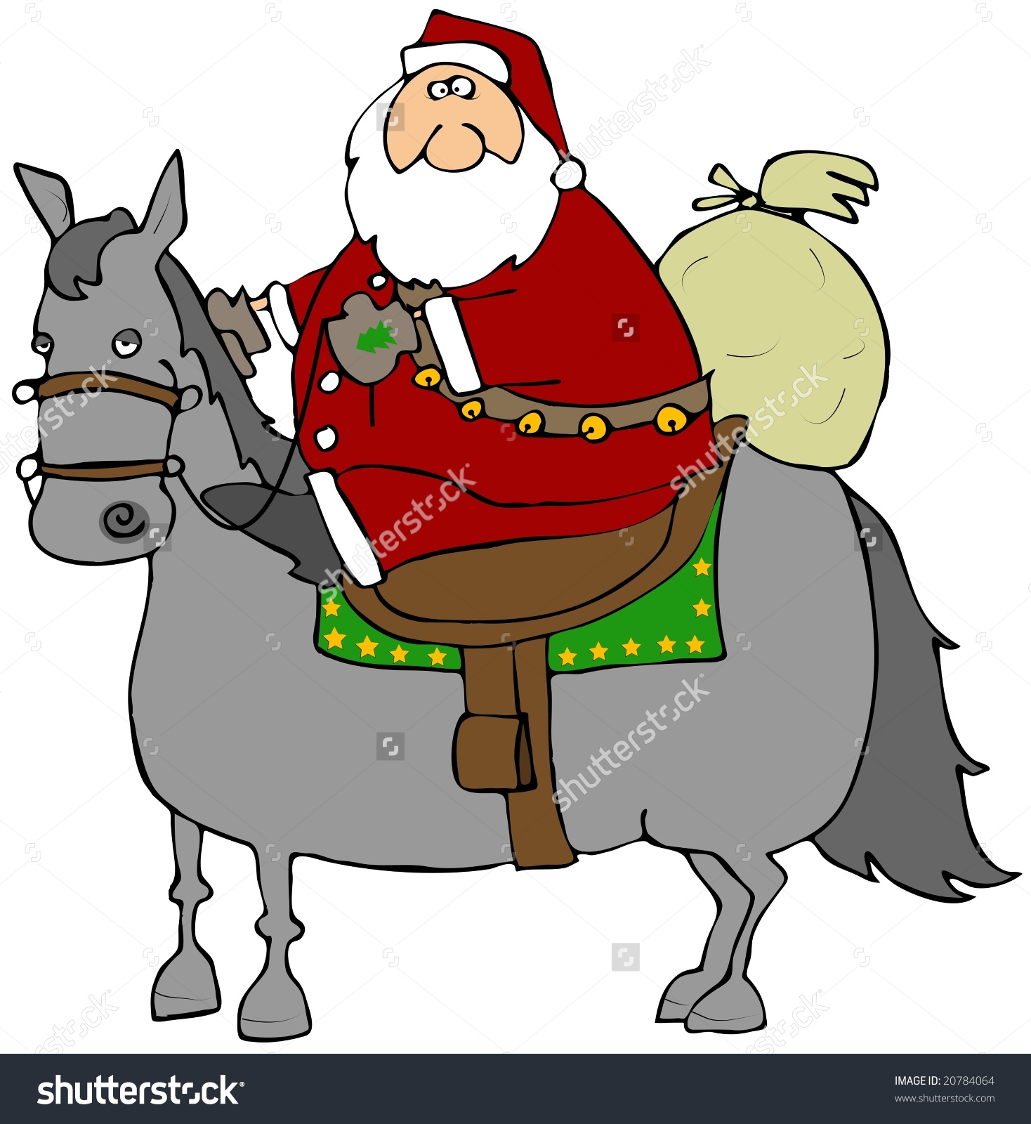 Santa Riding A Horse Stock Photo 20784064 : Shutterstock.