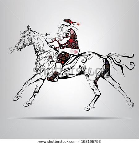 Christmas Horse Stock Images, Royalty.