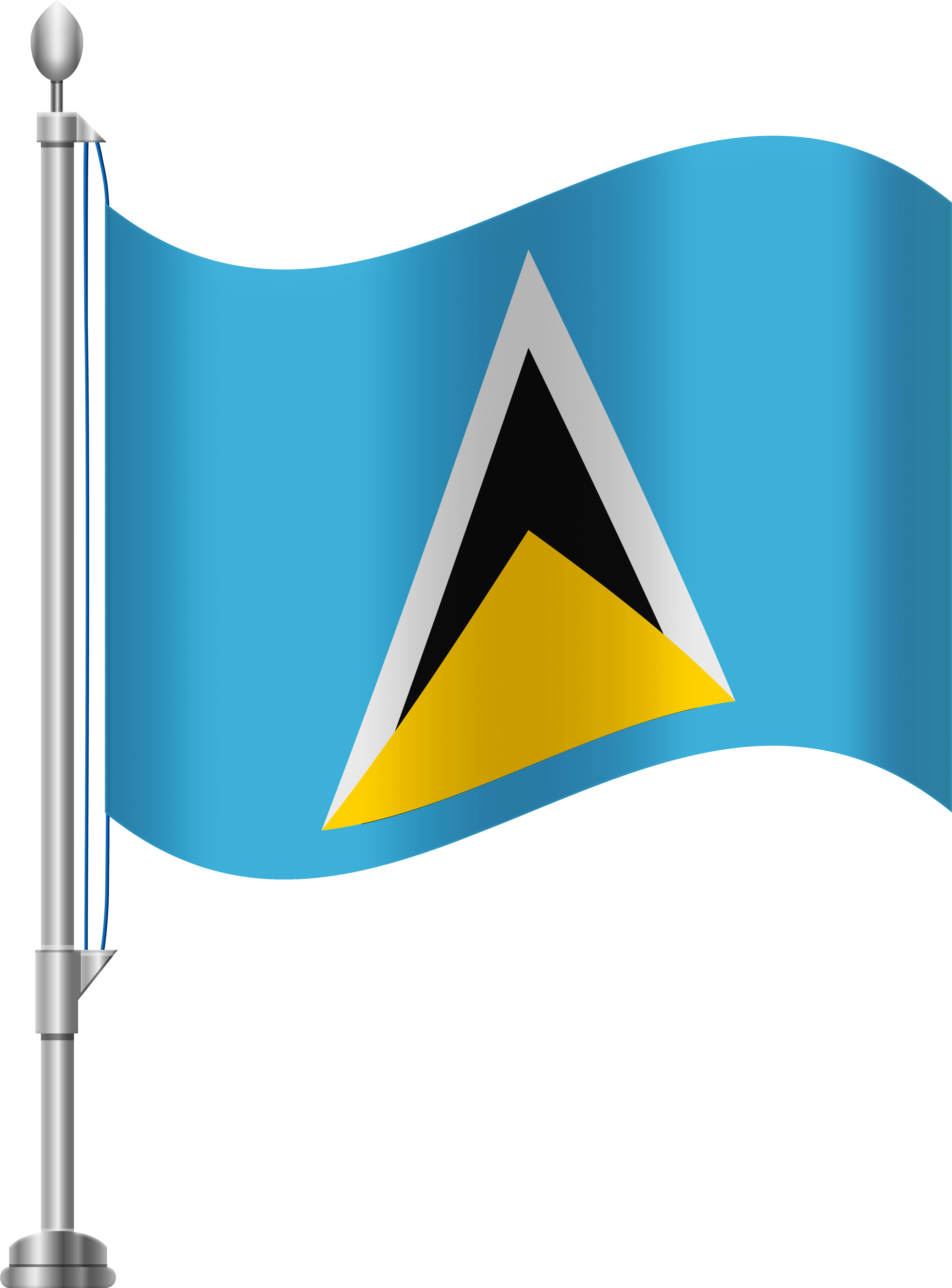 St Lucia Flag Png Clip Art Transparent Png.