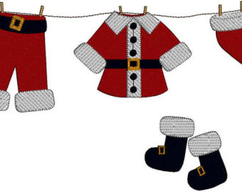 Santa Outfit Clipart.