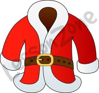 Santa coat clipart.