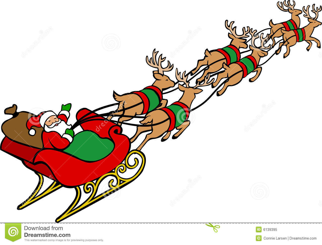 Santa reindeer clipart 3 » Clipart Station.