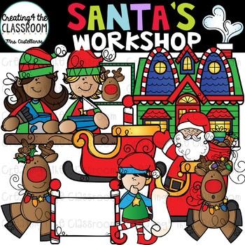 Santa\'s Workshop Clip Art {Christmas Clip Art}.